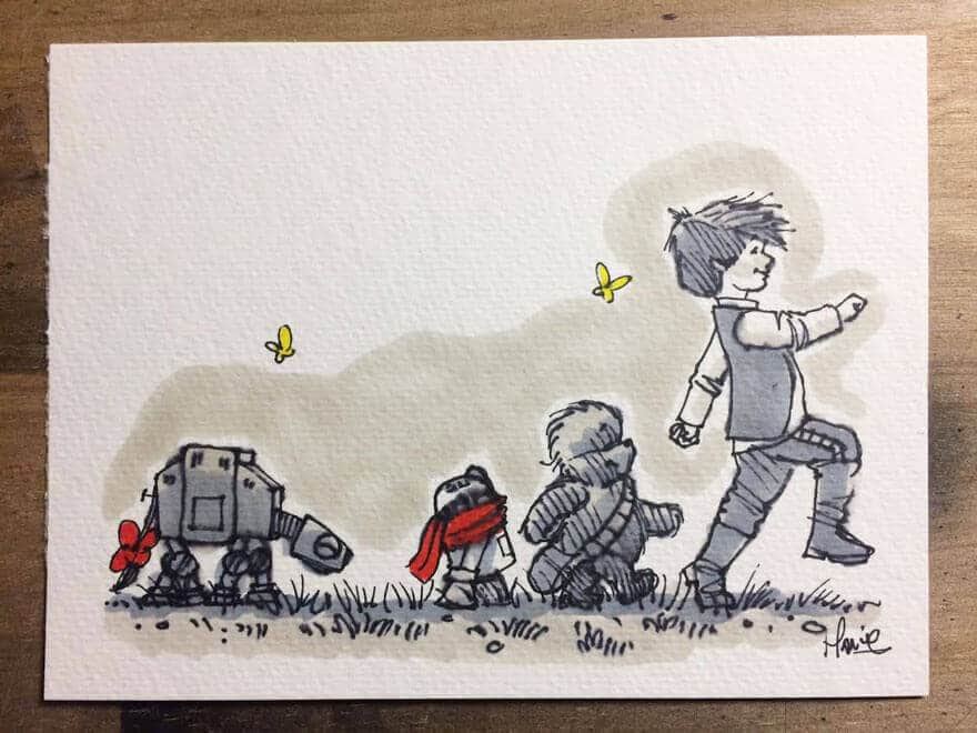star-wars-characters-winnie-the-pooh-wookie-the-chew-james-hance-20