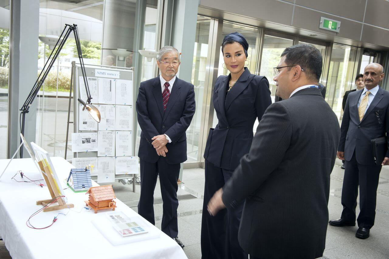 Her Highness Sheikha Moza bint Nasser discussing with senior executives from the National Institute for Materials Science-17 (1)