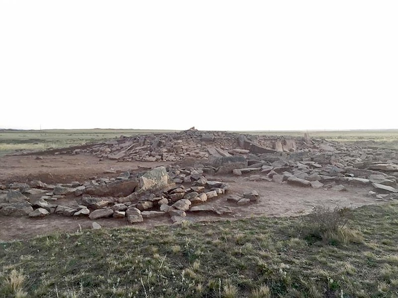 The pyramid site in Kazakhstan
