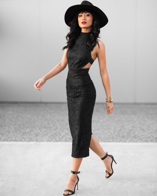 1.-sexy-cut-out-dress-with-hat-630x787